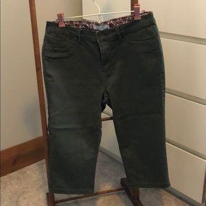 Pants - Olive Green Capris